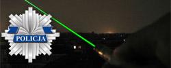 Policja ostrzega przed zielonym laserem