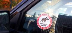 Karne naklejki za złe parkowanie