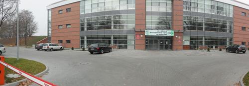 Budynek P-5 na terenie stadionu Olimpisjkiego