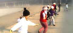 Ćwiczenia na pergoli