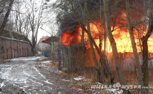 Pożar budynku przy ul. Dembowskiego
