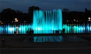 fontanna pergola pokaz nocny